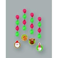 Weihnachten Hängedekoration 4 Stück Rot