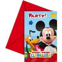Mickey Mouse Einladungskarten Disney Partydeko Kindergeburtstag
