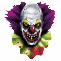 Halloween Partydeko Schild Clown Wanddeko Cutout