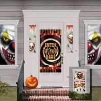 Halloween Partydeko Deko Set für Fenster und Tür