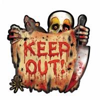 Halloween Partydeko Cutout Keep Out Wanddeko