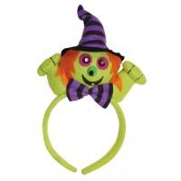 Halloween Haarreifen Hexe mit LED Augen Kostümzubehör