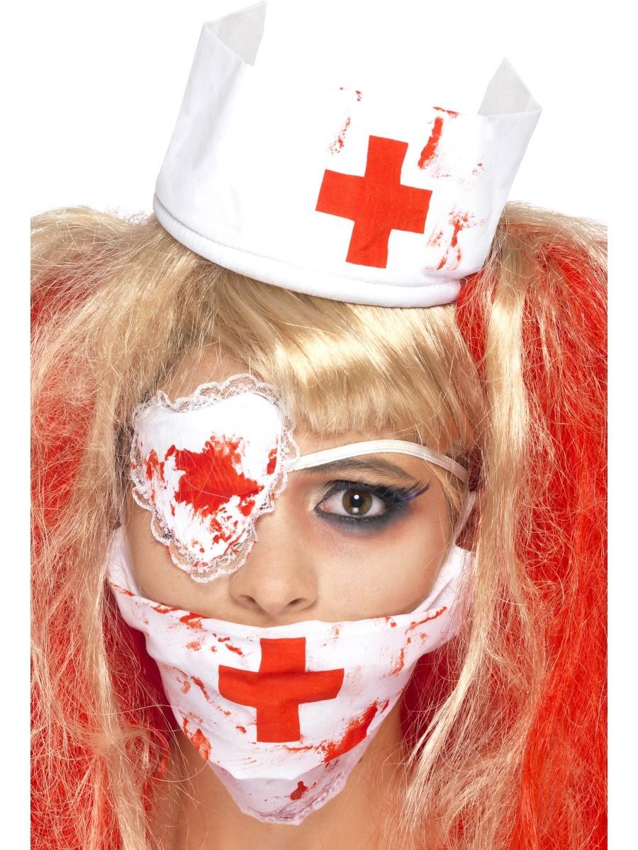 Blutige Horror Schürze Metzger aufblasbares Messer Kostüm Halloween Karneval