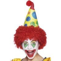 Perücke Clown mit Mütze Kostümzubehör