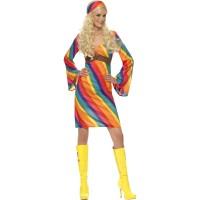 Hippie Kleid 70er Rainbow Hippie Kostüm 70er Jahre