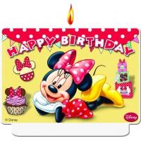 Minnie Mouse Café Kerze Disney Partydeko Kindergeburtstag