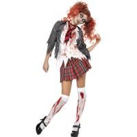 Halloween Kostüm Zombie School Girl Horror