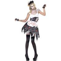 Halloween Kostüm Zombie French Maid Putzfrau Horror