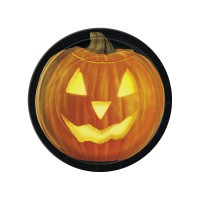 Halloween Partydeko Kürbis Teller 23cm Pumpkin Glow
