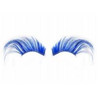 Wimpern Blau Partydeko Kostüm Fasching Karneval