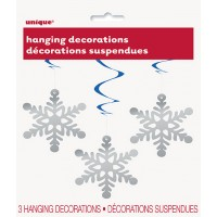 Weihnachten Hängedekoration Schneeflocke 3 Stück