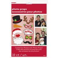 Weihnachten Photo Props Accessoires für Fotos Set mit 10 Stück