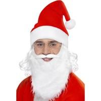 Weihnachten Santa Mütze Bart und Brille Weihnachtsmann Set