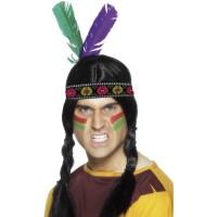 Kostümzubehör Indianer Haarband mit Feder Fasching Karneval