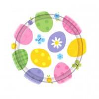 Ostern Oster Partydeko Teller 10 Stück