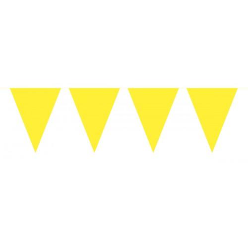 Flaggenbanner Gelb Art. 60117 Partydeko Geburtstag Kindergeburtstag