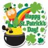 St. Patricks Day Partydeko Cutout Wanddekoration