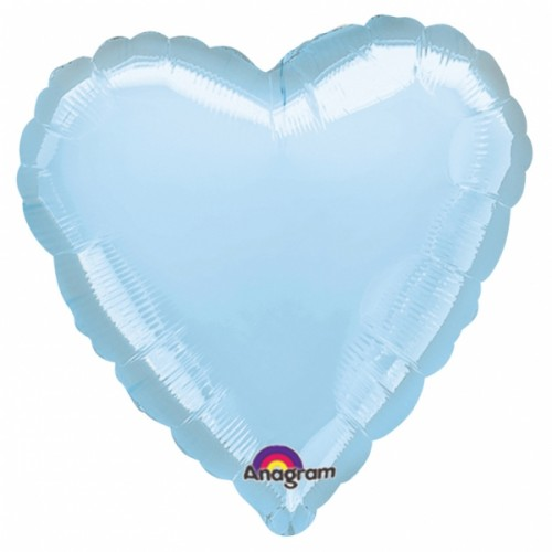 Folienballon Herz Hellblau Art.80046 Partydeko Ballon Valentinstag