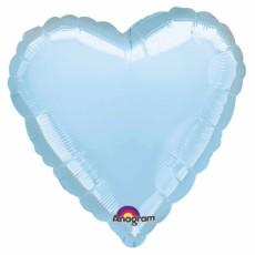 Folienballon Herz Hellblau Art.80046 Partydeko Ballon Valentinstag Hochzeit