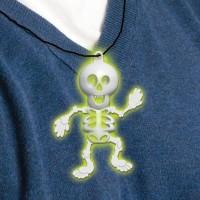 Halloween Partydeko Kette Skelett Glow in the Dark Art.394474
