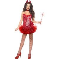 Halloween Kostüm Teufel Devil Frauen Gr. XS Fasching