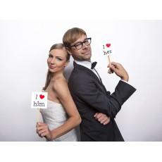 Hochzeit Wedding Photo Props Art.KNP1 Partydeko