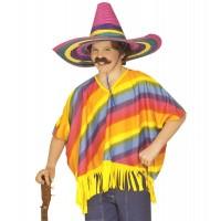 Poncho Kinder Kostüm Gr. M Mexicaner Fasching Karneval