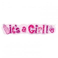 Riesenbanner Its a Girl Partydeko Babyparty Babyshower Geburt