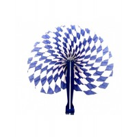 Oktoberfest Party Handfächer Fächer ø 23cm Partydeko Blau Weiss