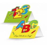 Einschulung Tischkarten Namenskarten ABC Schulanfang