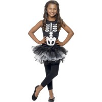 Halloween Kostüm Skelett Tutu für Kinder Skelett Kleid