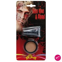 Halloween Make Up Set - Skin Wax und Kunstblut Blut Theaterblut