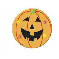 Halloween Partydeko Button Anstecker Kürbis mit LED´s