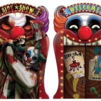 Halloween Partydeko Wackelbild mit zwei Seiten Art. 190447 Horror Clown