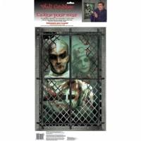Halloween Partydeko Wandbild Zombie Arzt Horror