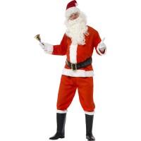 Weihnachtsmann Santa Kostüm Deluxe Komplett Art. 35585 Weihnachten