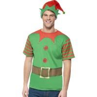 Weihnachten Weihnachtsmann Elf Elfen Set mit Hut Art. 39837