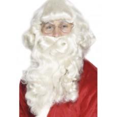 Weihnachten Weihnachtsmann Perücke mit Bart Weiss Art. 30125