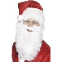 Weihnachten Weihnachtsmann Bart 28cm Weiss Art. 655