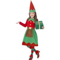 Kostüm Elf Kinder Weihnachten Weihnachtsmann Santa Helfer Art. 39104