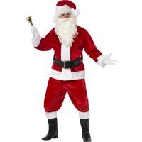 Weihnachtsmann Santa Kostüm Deluxe Komplett Art. 25963 Weihnachten
