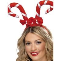 Weihnachten Haarreifen Zuckerstange Weihnachtsmann Art. 38327