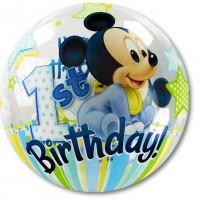 Mickey Mouse Baby Ballon Bubbles 1. Geburtstag Partydeko Art. 12864