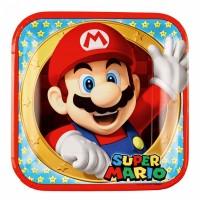 Super Mario Teller 8 Stück Partydeko Kindergeburtstag