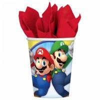 Super Mario Becher 8 Stück Partydeko Kindergeburtstag