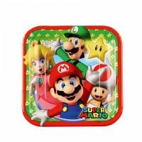 Super Mario Teller klein 8 Stück Partydeko Kindergeburtstag