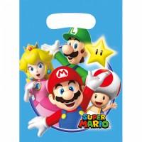 Super Mario Tüten 8 Stück Partydeko Kindergeburtstag Luigi
