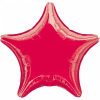 Folienballon Stern Rot Art.30584 Partydeko Ballon Geburtstag