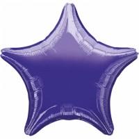 Folienballon Stern Lila Art.30597 Partydeko Ballon Geburtstag
