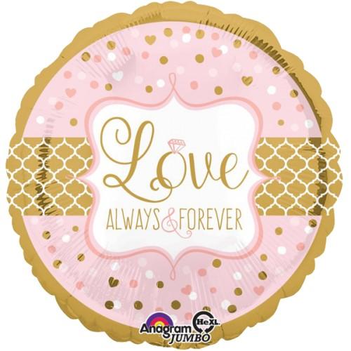 Folienballon Hochzeit XXL Love Art.34455 Partydeko Ballon Love Forever